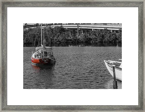 Red E 2 Sail Framed Print
