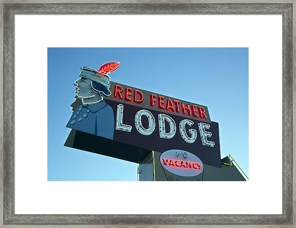 Red Feather Lodge Framed Print