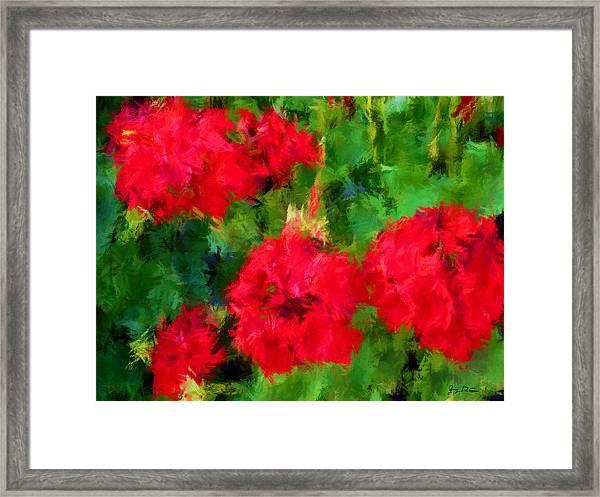 Red Flowers Impressionism Framed Print