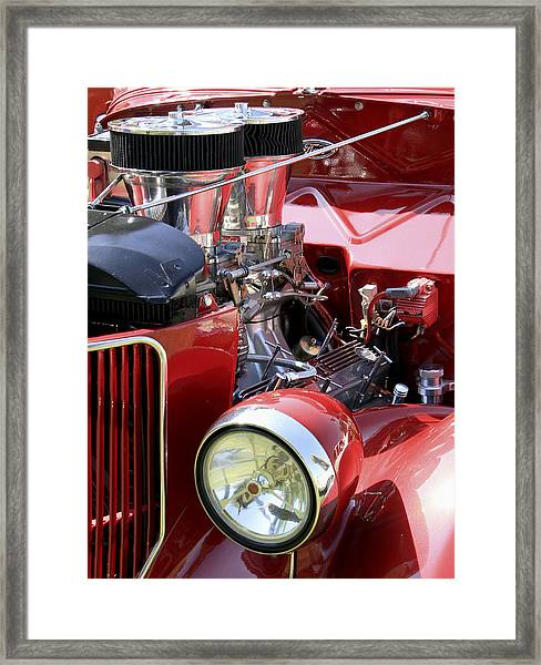 Framed Print featuring the photograph Red Ford by Bob Slitzan