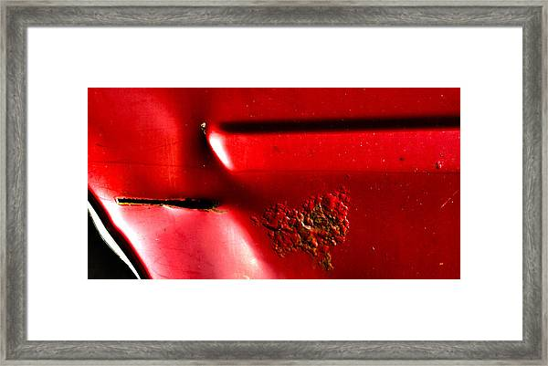Red Gash Framed Print