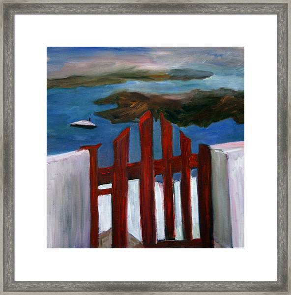 Red Gate To Atlantis Framed Print