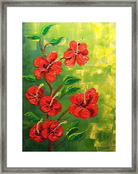 Red Hibiscus 2 Framed Print by Rich Mason