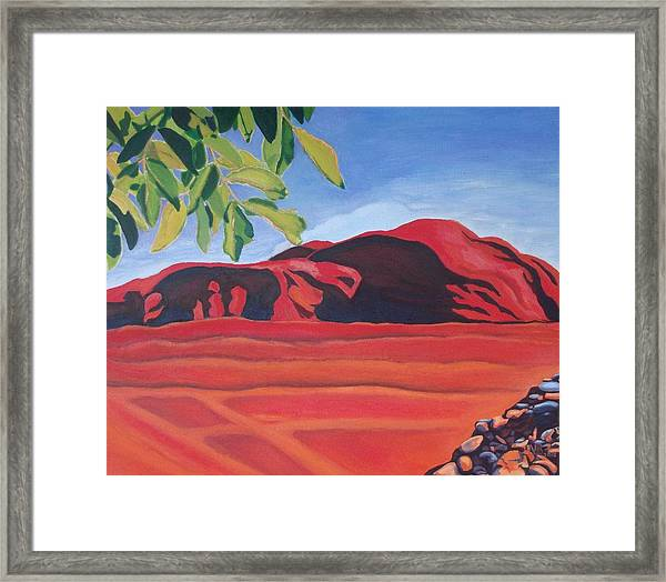 Red Hills In The Republic Of Georgia Framed Print