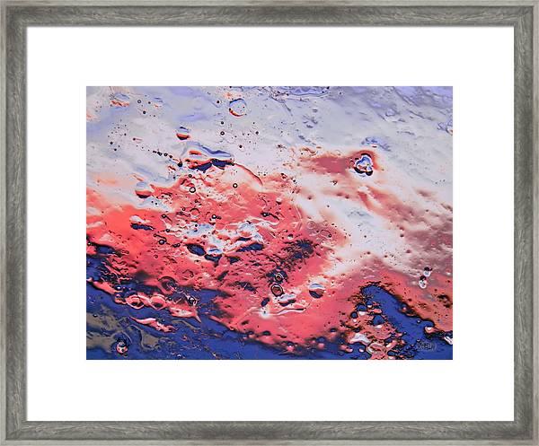 Red Horizon Framed Print