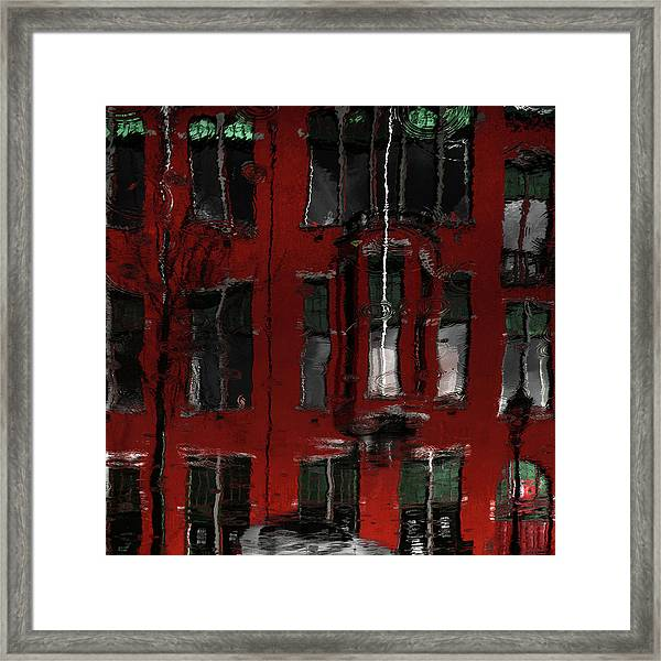 Red House Reflections Framed Print