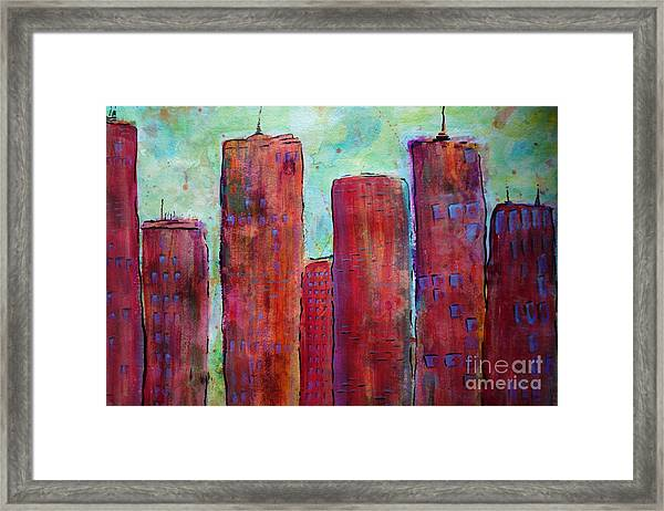 Red In The City Framed Print