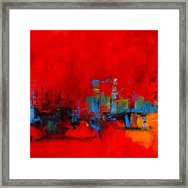 Framed Print featuring the painting Red Inspiration by Elise Palmigiani