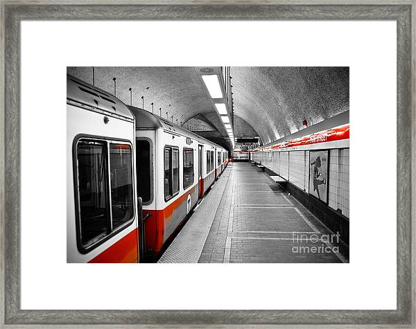 Red Line Framed Print