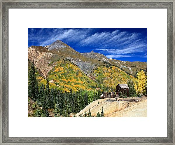 Red Mountain Mine Framed Print by Robert Yone