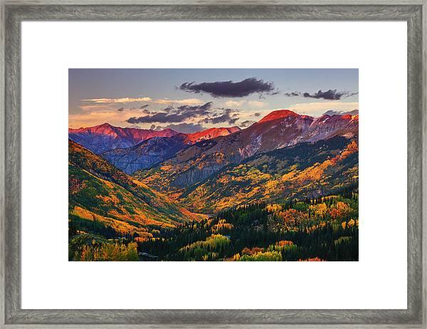 Red Mountain Pass Sunset Framed Print