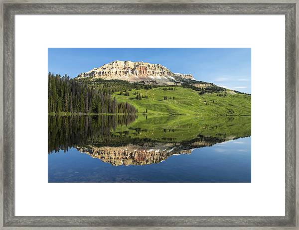 Red Mountain Reflection Framed Print