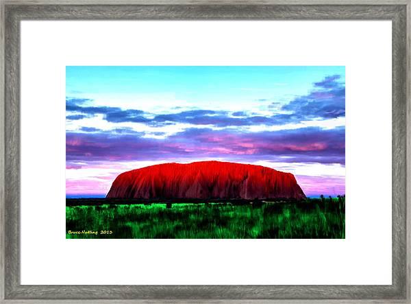 Red Mountain Sunset Framed Print