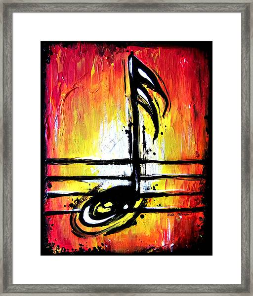 Red Note  Framed Print