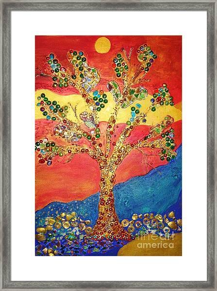 Red Oak Framed Print