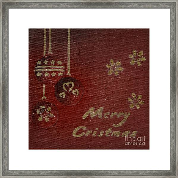 Red Ornaments Framed Print