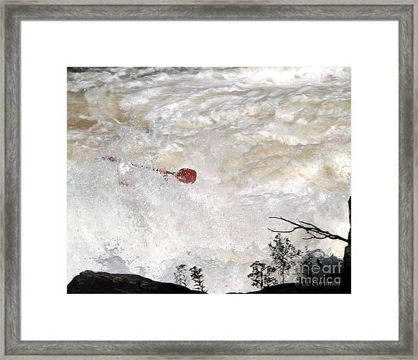 Red Paddle Framed Print
