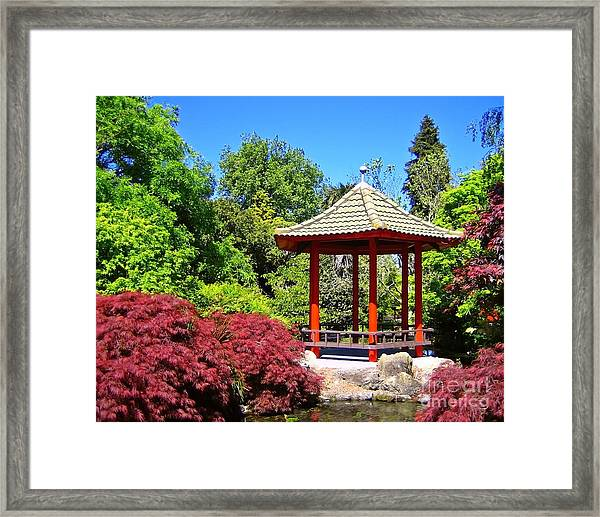 Red Pagoda Framed Print