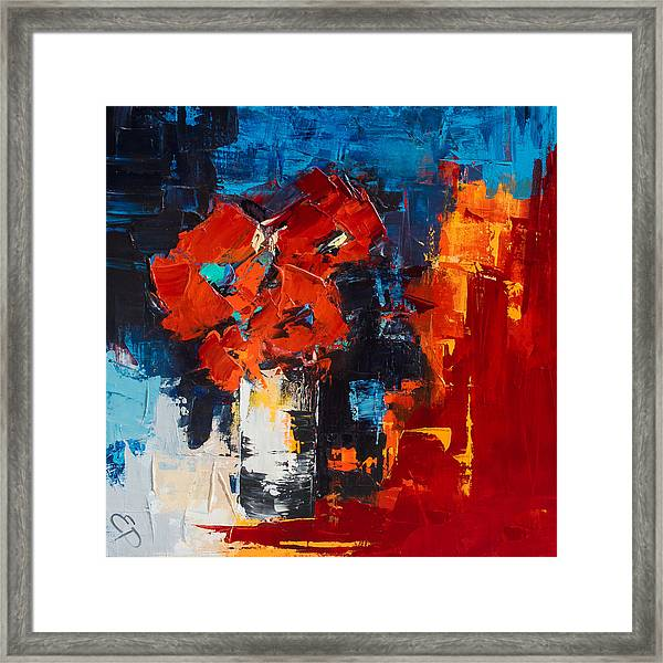 Framed Print featuring the painting Red Passion by Elise Palmigiani