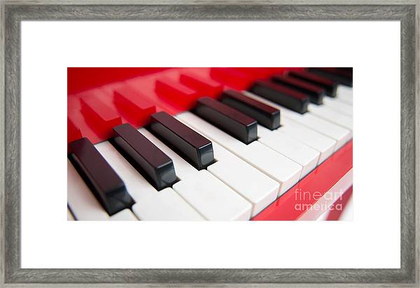Red Piano Framed Print