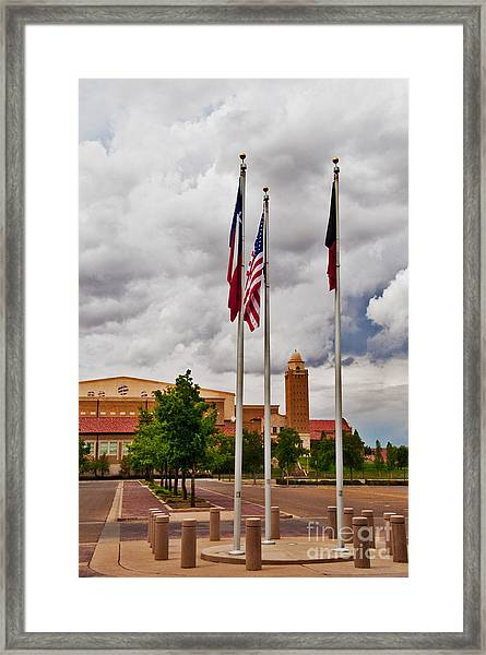 Framed Print featuring the photograph Red Raider Spirit Arena by Mae Wertz