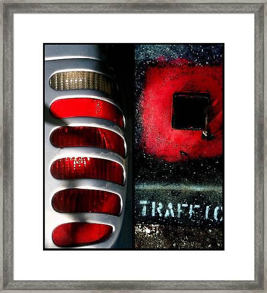 Red Road Rage Framed Print