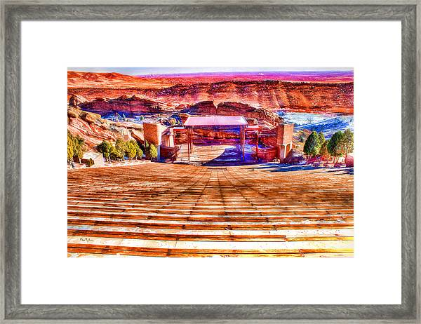 Colorado - Famous - Red Rock Amphitheater Framed Print