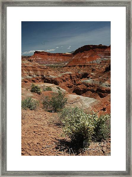 801a Red Rock Formations Framed Print
