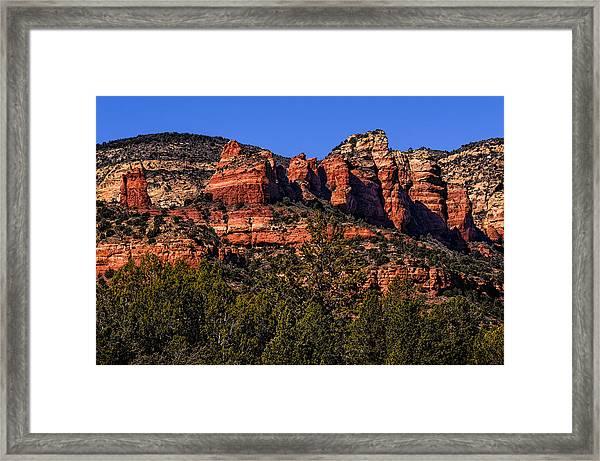 Red Rock Sentinels Framed Print