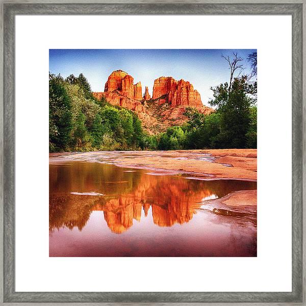 Red Rock State Park - Cathedral Rock Framed Print