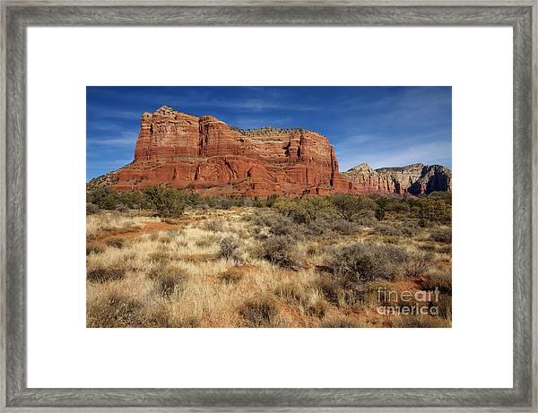 Red Rocks Of Sedona Framed Print