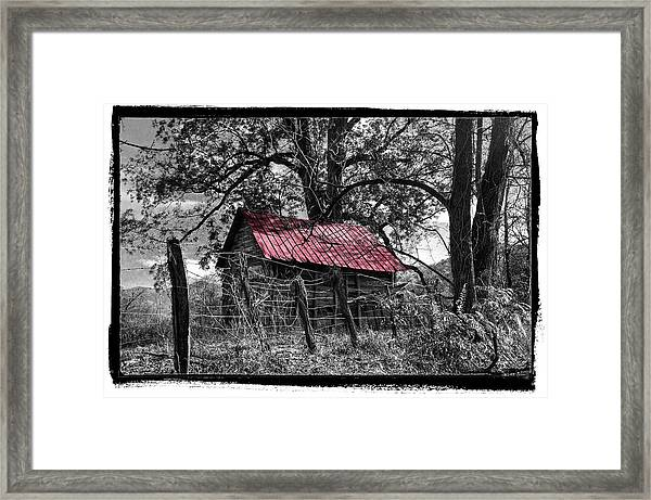 Red Roof Framed Print