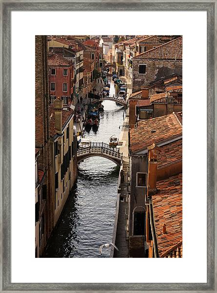 Red Roofs Of Venice Framed Print