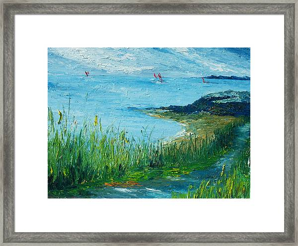 Red Sails In Galway Bay Framed Print