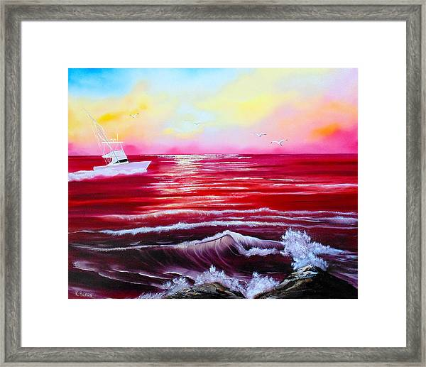 Red Seas Framed Print