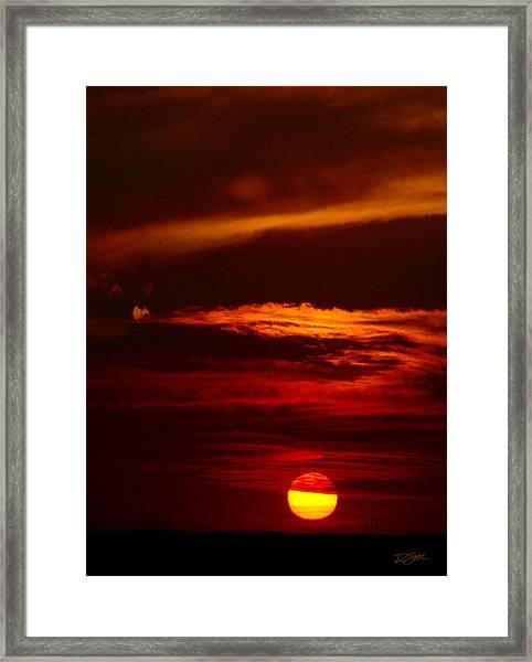 Red Sky At Night Vertical Framed Print