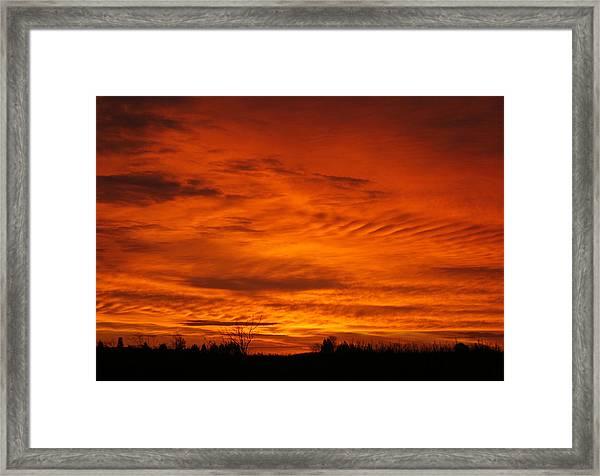 Red Sky In Morning Framed Print