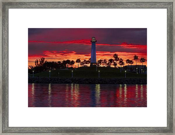 Red Skys At Night Denise Dube Photography Framed Print