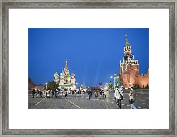 Red Square Framed Print
