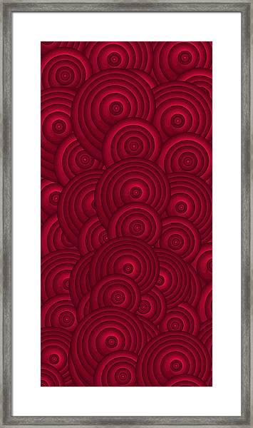 Red Swirls Framed Print