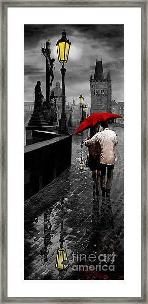 Red Umbrella 2 Framed Print