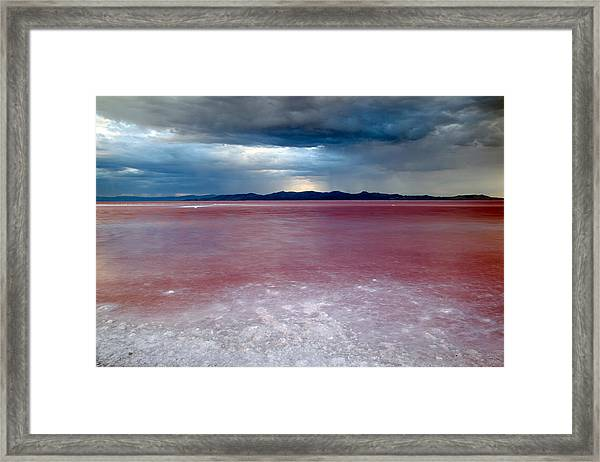 Red Water Framed Print by Darryl Wilkinson