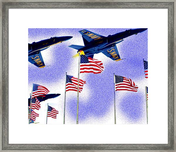 Red White And Blue Angels Framed Print by Frank Savarese