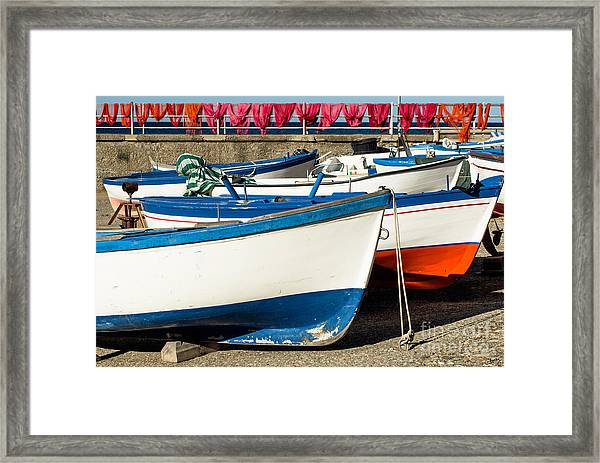 Red White And Blue Framed Print
