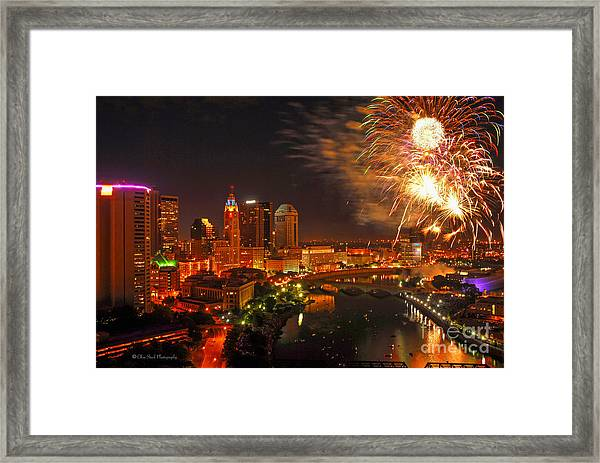 Red White And Boom Photo Framed Print