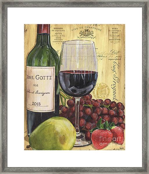 Red Wine And Pear Framed Print