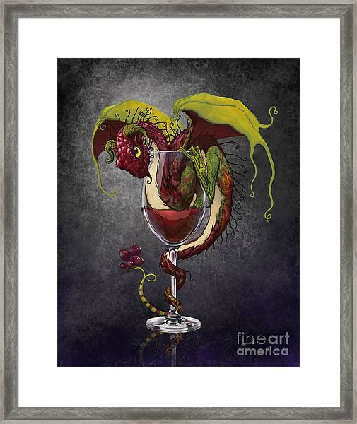 Red Wine Dragon Framed Print