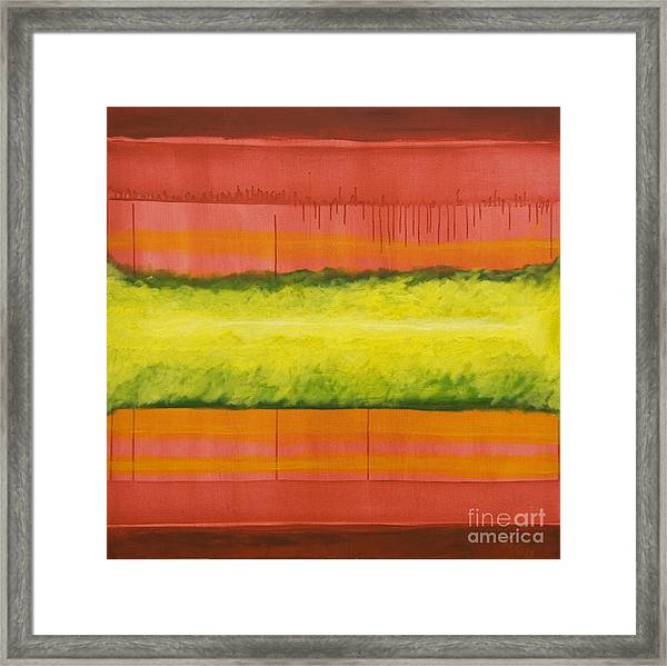 Red Yellow And Green Framed Print