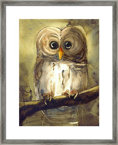 Redbird Cottage Owl Framed Print