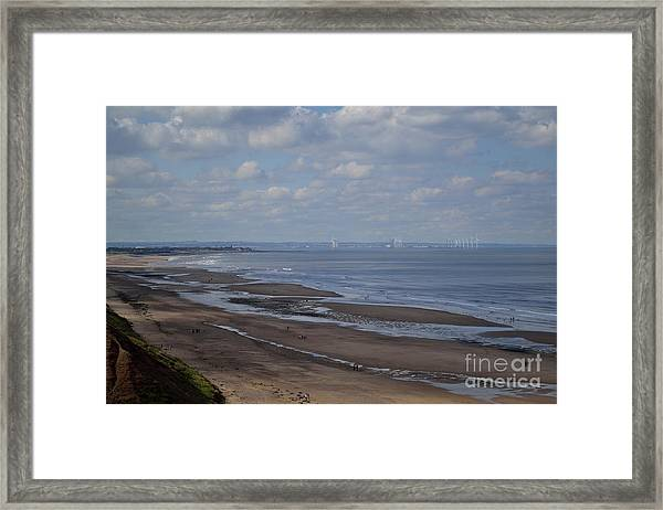 Redcar From A Distance Framed Print